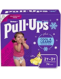 Pull-Ups Cool & Learn Training Pants for Girls, 2T-3T, 74 Count