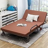 折叠床单人午休床双人床办公室午睡床家用客人床小孩床保姆床客人临时床躺椅成人简易床 (100cm咖啡色B款)