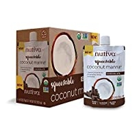 Nutiva Squeezable USDA Organic Coconut Manna, Chocolate, 6.2 oz. Pouch (Pack of 6)