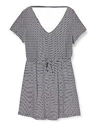 ONLY 女士 Onlmay Life S/S V 領條紋連衣裙 JRS 休閑連衣裙
