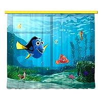 迪士尼 AG 设计浴帘 - 儿童窗帘 - 3D 照片印刷 - 280 x 245 cm/ 110,2 x 96,5 英寸 - 2 部分 - FCSXXL 7011