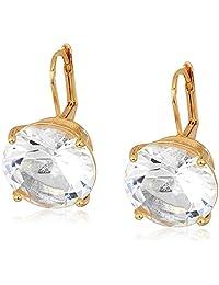 T Tahari Essentials 女式爪镶石头式杠式耳坠,金色,均码