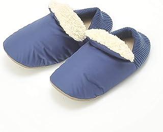 [郡是] 室内鞋 UNCHI COLLEE Bubon加热器Plus 绑带式 素色 AUJ012 男士