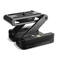 SmartElite 折叠 Z Flex 倾斜头三脚架,铝合金 Z 型摄像机支架灵活倾斜三脚架头快速释放板和三脚架球头适用于 DSLR 摄像机三脚架 Canon Nikon 索尼宾得