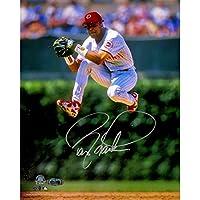 MLB 辛辛那提红人队 Barry Larkin 签名跳跃 垂直 8x10 照片