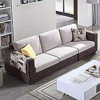 【下单赠价值998元真皮圆凳1个】左右 沙发 布艺沙发组合 小户型客厅转角 简约现代 可拆洗沙发 DZY2509 四人位 配色咖啡