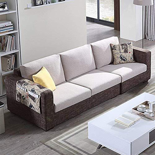 下单赠价值998元真皮圆凳1个左右 沙发 布艺沙发组合 小户型客厅转角 简约现代 可拆洗沙发 DZY2509 四人位 配色咖啡