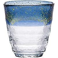 东洋佐佐木玻璃 烧酒杯 日式温酒杯 蓝色 300毫升 日本制造 42130TS-G-WSHB