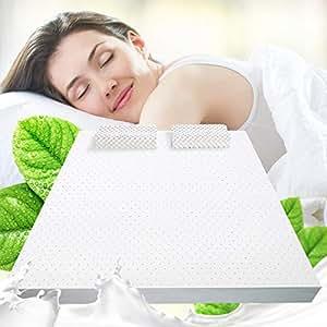 SLEEMON喜临门 5cm进口优质乳胶床垫 薄乳胶垫 可折叠卷包床褥榻榻米 偏软 云朵180*200*5cm(亚马逊自营商品, 由供应商配送)