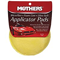 Mothers 156501 Yellow Microfiber Ultra-Soft Applicator Pad (Two 5