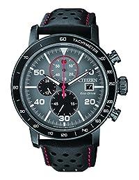 Citizen Men's Sport Eco-Drive CA0645-15H Black Leather Japanese Quartz Diving Watch