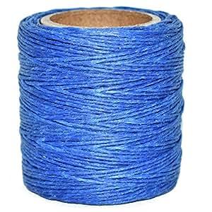"Maine 螺纹 - 皇家打蜡涤纶绳。 每个 210 英尺。 包括 2 个线轴。 皇家蓝 .030"" WP-1006-.030-2"