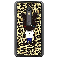 SECOND SKIN Black Panther 豹纹 (透明) design by Moisture/for Moto X Play XT1562/MVNO智能手机(SIM免费终端) MMRXPY-PCCL-277-Y410 MMRXPY-PCCL-277-Y410