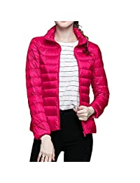 Kaximei Women's Packable Lightweight Down Coat Women's Down Puffer Jacket