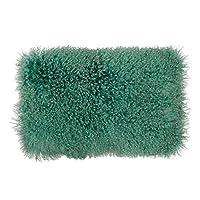 SLPR 装饰性蒙古羊皮抱枕套 沙发和床 海风 12 x 20 LambSeaBreeze1220