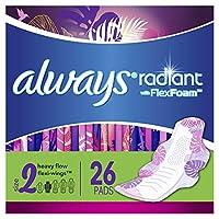 Always Radiant 护翼卫生巾, 清香型, 26片/包, (3包装)