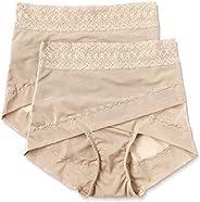 ATSUGI 厚木 矫正型内裤 骨盆矫正 骨盆交叉带束腹内裤 提臀(2条装) 棕色 L