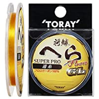 东丽(TORAY) 线条 将鳞片 *专业氟利昂丝GL 50m金 1.5号 金色