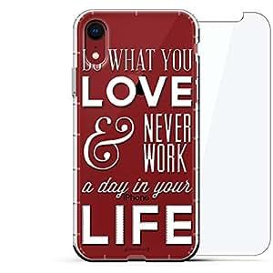 豪华设计师,3D 印花,时尚,气袋垫,360 玻璃保护膜套装手机壳 iPhone XR - 透明阿尔巴尼亚国旗LUX-I9AIR360-QWORK1 DO WHAT YOU LOVE QUOTE 透明