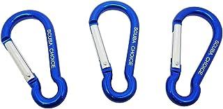 Scuba Choice 船用铝锁夹钩登山扣(3 件装),2.75 英寸(约 6.9 厘米),蓝色