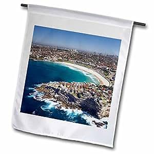 danita delimont–SYDNEY–澳大利亚,新南威尔士州,悉尼, bondi 海滩–aerial-au01dwa3509–David WALL–旗帜 12 x 18 inch Garden Flag