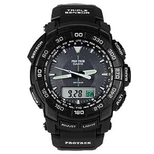 【情人节礼物】卡西欧太阳能手表双显登山表运动男表PRG-550-1A1