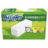 Swiffer Sweeper 干爽除尘垫,适用于灰尘拖把的多表面补充装,无香味,52 只装 Multi-Surface, 52 Ct Unscented, 52 Ct Multi Surface, 52 Ct 52