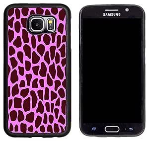 Rikki Knight 粉色长颈鹿设计三星 Galaxy S6 手机壳 - 黑色