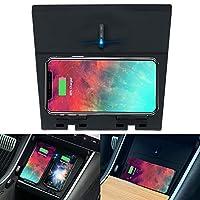 Tesla 型号 3 无线充电器,M3 水平/垂直双 Qi 无线智能手机充电板*双 USB 充电,兼容 Tesla 型号 3 配件
