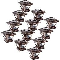 Paradise GL28998BZ 太阳能铸铝 LED 柱盖灯适用于 4x4 木柱 青铜色 12 包