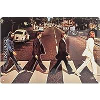 怀旧艺术披头士 Abbey Road 压花金属标牌 300mm x 200mm (na)