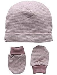 Mamas & Papas 女婴 Marl Stipe 手套帽子