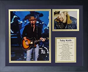 "Legends Never Die ""Toby Keith 相框照片拼贴,27.94 x 35.56 cm"