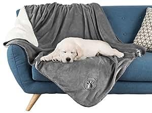 PETMAKER 80-PET6106 防水宠物毯 - 127 厘米 x 152.4 厘米柔软毛绒抱被 灰色 50x60