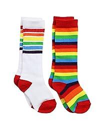 juDanzy 及膝高筒婴儿、学步儿童及足弓支撑袜