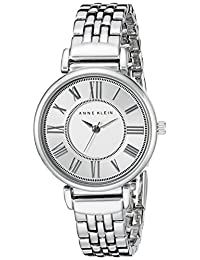 Anne Klein 2159SVSV Women's Easy To Read Silver Tone Dial Stainless Steel Bracelet Watch