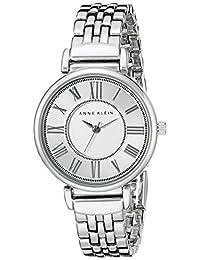 Anne Klein AK / 2159SVSV 女士手链手表,银色,均码