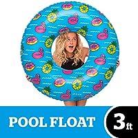 BigMouth Inc 大型充气派对泳池管 - 令人捧腹的 3 英尺充气泳池浮动,易于擦洗,充气/放气,运输和商店 - 非常适合泳池派对和海滩日 泳池