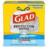 Glad 高大厨房抽绳垃圾袋 清香洁净 Febreze Fresh Clean (110 只装)