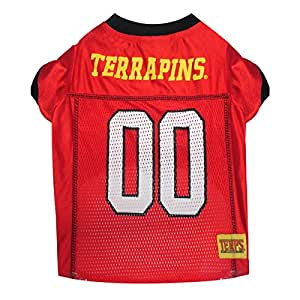 Pets First Collegiate Maryland Terrapins Dog Mesh Jersey Value not found 小号