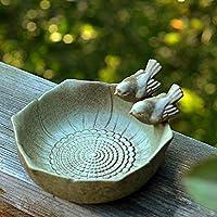 NBHUZEHUA 陶瓷野生雀巢鸟喂食器花园水浴户外装饰*