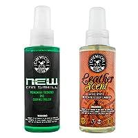 Chemical Guys AIR_300 新汽车气味和皮革气味组合套装(453.59 克)(2 件) 4 fl. Oz (2 Items) AIR_300_04