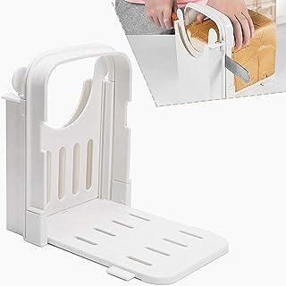 面包切片机,可调节吐司机吐司切割指南折叠面包吐司机百吉饼面包切片机三明治制作机烤面包机 白色