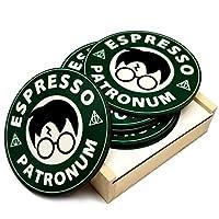 HP Espresso Patronum 磨砂 白色 Coaster Set