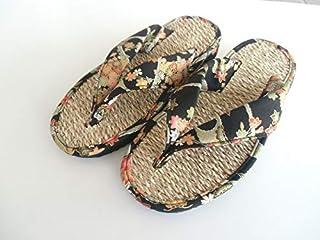 [青木店] 七岛 加勒比索 广泛 日式花纹 黑