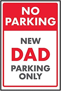 VSafety No Parking/New Dad Parking Only 标牌 - 300 毫米 x 400 毫米 - 硬质塑料