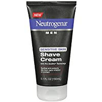 Neutrogena Men Sensitive Skin Shave Cream, 5.1 Ounce (Pack of 2)