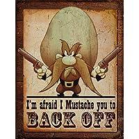 Yosemite Sam - Back Off 做旧复古锡标志 33 x 40.64 厘米