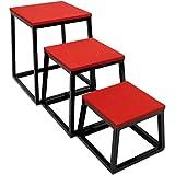 3 件套塑料跳跃箱 - 阶梯平台、健身训练和调理设备用于增加垂直、速度和Stamina (30.48cm/45.72cm/60.96cm) 由 Crown Sporting Goods 出品