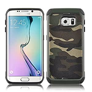JAMMYLIZARD [ Samsung Galaxy S7 Edge Case ] Camouflage Heavy Duty Back Cover, Green